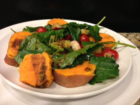 Sweet potato with greens