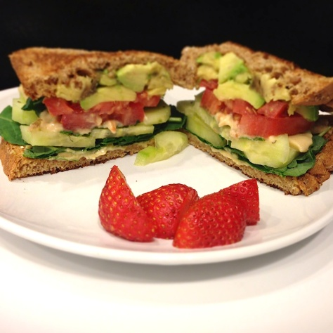 Veggie sandwich for brunch/lunch