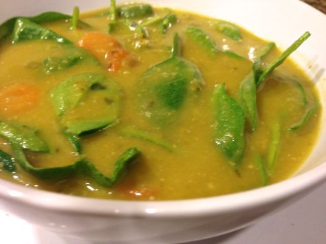 Pea Soup with Spinach