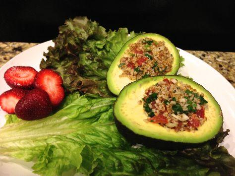 Avocado Stuffed with Bulgur Salad