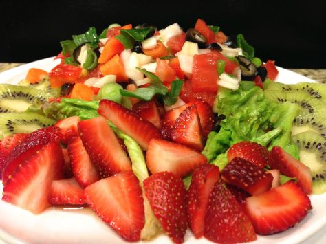 Mixed Vegetables and Fruit Salad