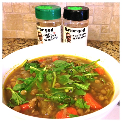 Lentil Soup with Arugula