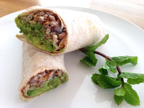 Tabbouleh and Guacamole Wrap