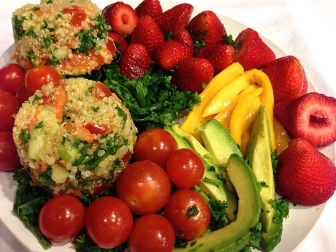 Quinoa Tabbouleh with Mango, Strawberries, Avocado and Kale