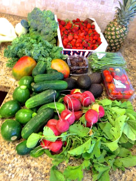 My Produce Bounty for the Week